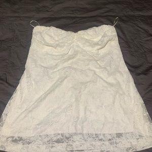 Kismet - Gorgeous white lace tube top